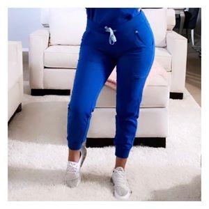 FIGS Royal Blue Zamora - Petite Jogger Scrub Pants